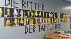 Kunstunterricht Grundschule Thema Ritter  Metallfoliendruck