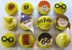 SUPER cute cupcake ideas.  Harry Potter, The Beatles...