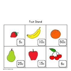 FREE Math Center Game, includes a Cash Register Mat, Money Addition Reference Chart, Play Money, Addition Mat, Price Tags, Fruit Stand Mat & more