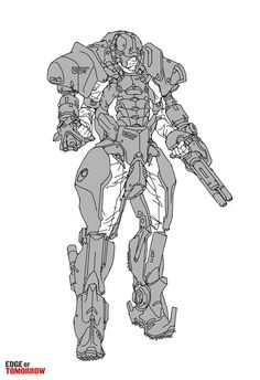 ArtStation - EdgeOfTomorrow: LiveDieRepeat_14, Jon McCoy - - This concept would make a good starting point for exploring different combat exoskeleton variants.