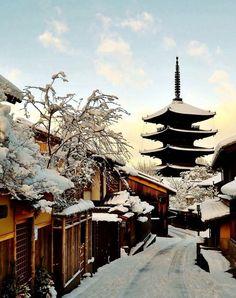Snow in Kyoto (Japan)