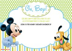 Download Now New Free Printable Mickey Mouse Baby Shower