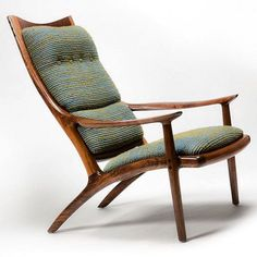 mid-century-furniture: Awesome Sam Maloof chair, walnut