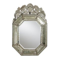 Small Ornate Venetian Mirror ,  , large