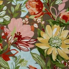 Hertex Fabrics - Summer Fling  Design: Flourish Bark Hertex Fabrics, Eco Cabin, Flourish, Cabins, Plants, Summer, Painting, Design, Home Decor