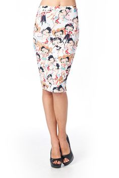 Betty Boop Skirt White