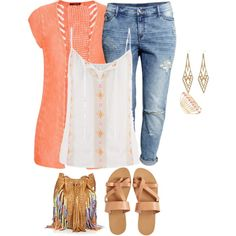 d120d5e377c plus size summer denim styles casual by kristie-payne on Polyvore featuring  maurices
