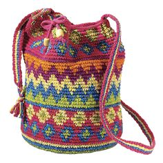 Crocheted Drawstring Tote - New Age & Spiritual Gifts at Pyramid Collection