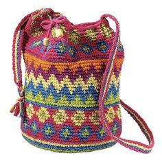 Crocheted Drawstring Tote