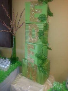 Custom party stacks! Garden of Eden theme baby shower