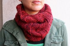 A simple ribbed pattern inspired by a cowl at Bloomingdales.