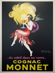 Professionally Framed Leonetto Cappiello Cognac Monnet Vintage Ad Art Print Poster with RichAndFramous Black Wood Frame *** Visit the image link more details. Poster Mural, Kunst Poster, Poster S, Poster Prints, Poster Wall, Poster Ideas, Art Vintage, Vintage Ads, French Vintage