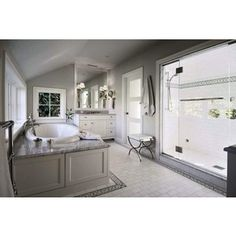 White and Gray Bathroom - Traditional - bathroom - Toth Construction