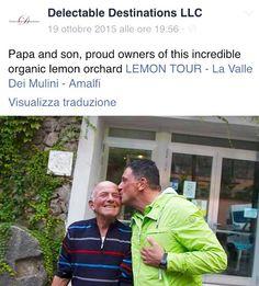 #Papa & #son #proud #owners of their #Organic #Lemon #orchard ✨ #Amalfi #amalficoast #amalfilemon #Lemons #lemonmind #lemontour #father #family #educational #emotional #Tour #trip #farmlife #lifestyle #followme #follow4follow #passion #tradition #generations #Limoncello #sustainable #enviroment