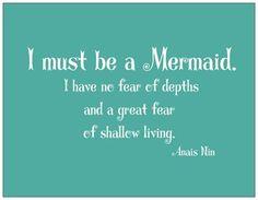 I must be a Mermaid Postcard
