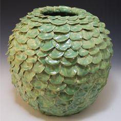 Martha Underriner, coil pot, handbuilding, ceramic texture, surface design