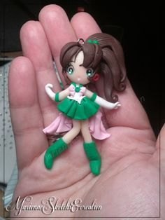 Sailor Jupiter Handmade Fimo Ciondolo di MarienneCreations