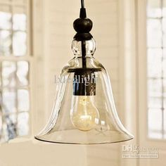 Wholesale Lighting Fixtures - Buy New Antique Vintage Style Glass Shade Ceiling Light Pendant Lamp Fixture U1,  DHgate We purchased 4 of these for the kitchen Island