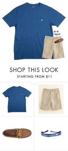 """"""""""" by classynsouthern ❤ liked on Polyvore featuring Southern Tide, Vineyard Vines, Sperry, Ray-Ban, men's fashion and menswear"""