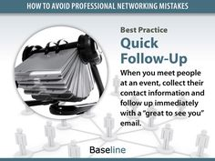 Networking Best Practice: Quick Follow-Up