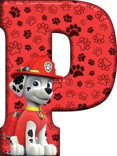 P Paw Patrol - Marshall Dog Themed Parties, 3rd Birthday Parties, Paw Patrol Cake, Paw Patrol Party, Paw Patrol Decorations, Paw Patrol Birthday Invitations, Alfabeto Animal, Cumple Paw Patrol, Alphabet Design