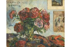 Still Life with Peonies, 1884, Paul Gauguin.
