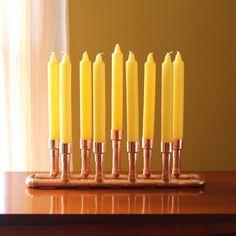 Menorah Industrial Style Hanukkah Copper Candle door McGdesign