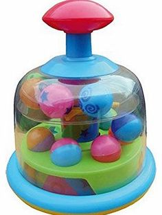 Spinner Spinning Popping Pals Spinner Baby Toy - Suitable From 6 Months   Hours of fun. Push down gently and watch it spin. Bright colours. Revolving amp
