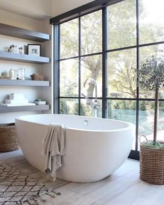 Luxury Master Bathroom Ideas is very important for your home. Whether you pick the Luxury Bathroom Master Baths Photo Galleries or Luxury Master Bathroom Ideas Decor, you will create the best Bathroom Ideas Apartment Design for your own life. Modern Luxury Bathroom, Bathroom Interior Design, Trendy Bathroom, Bathroom Windows, Decor Interior Design, Modern Bathroom, Modern Farmhouse Bathroom, Bathroom Design Luxury, Beautiful Bathrooms