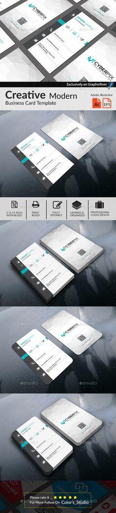 Professional Business Card Print Template Vector EPS, AI Illustrator
