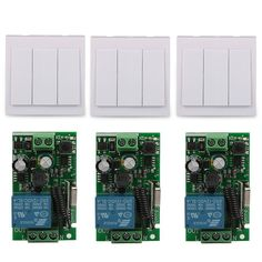 3 CH Wall Panel Remote Transmitter 433MHz RF TX Remote Control Switch 433 MHz 220V 1CH Relay RX Receiver Module Remote Control
