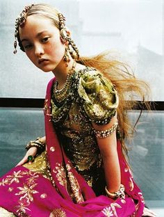 Beautiful fusion of high fashion and eastern styling