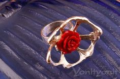 Rose Flower Ring 925 Sterling Silver Ring BLOSSOM by YonitYonit
