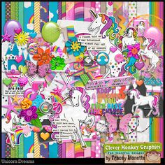 Unicorn Dreams by Clever Monkey Graphics - Digital scrapbooking kits available through Oscraps, GingerScraps, or MyMemories