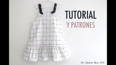Patrones vestido de cuadros para niñas (gratis hasta talla 8 años) Sewing For Kids, Baby Sewing, Dress Sewing Tutorials, Dress Anak, Cute Dresses, Summer Dresses, Girl Fashion, Fashion Outfits, Baby Couture