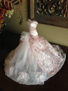 Paper Mache Doll Art Dress Pink Dress pink by IsabellaRoseDream