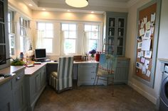 At The Picket Fence: How To Create an Office in a Laundry Room