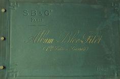 Grand album - fillet - dentelle  48x32 cm - 19eme siècle - Antique french
