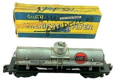 Vintage American Flyer S Gauge 925 GRCX 5016 Gulf Tank Car Made in USA 1950s