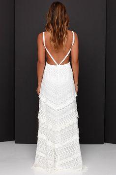 Beneath the Garden Arbor Ivory Lace Maxi Dress at Lulus.com!