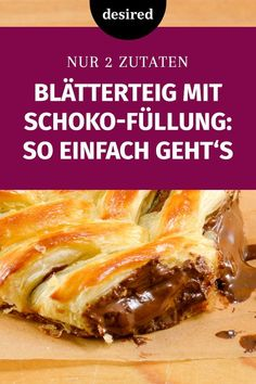 Puff pastry with chocolate: everyone can! Party Snacks, Mole, Sweet Bread, Soul Food, Buffet, Brunch, Dessert Recipes, Food And Drink, Vegan
