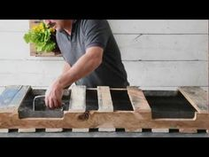 Watch as Better Homes and Gardens shows you how to make a do it yourself home décor project — a hanging palette planter! To start this DIY home project, find...