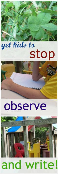 get kids to stop. observe. and write! | teachmama.com