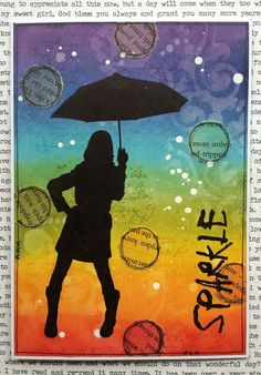 Colourful Rain - Visible Image Stamps - Corrie Herriman