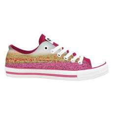 Pink tulips printed canvas sneaker