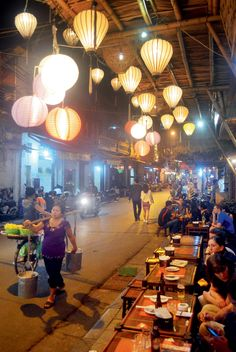 Hanoi's Old Quarter is dotted with street-side restaurants that serve local brews and fresh seafood. #Vietnam #Hanoi #Travel