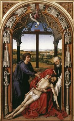 Miraflores Altarpiece: central panel by Rogier van der Weyden #art
