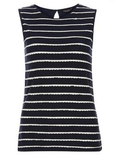 View the latest Fall/Winter womens collection at Dorothy Perkins. Shop online from this season's dresses, coats, jeans, accessories and more. Scallop Shells, Shell Tops, Petite Outfits, Navy Stripes, Cute Tops, Shirt Outfit, Fashion Online, Street Style, Coat