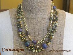 Cornucopia necklace set by GinkoOrganicDesigns on Etsy