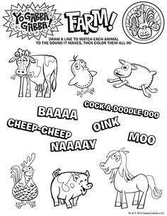Easter is coming print this free yogabbagabba coloring sheet for new episode of yo gabba gabba premieres saturday 727 at 8 thecheapjerseys Choice Image